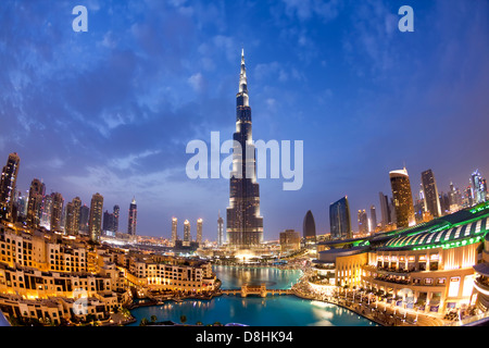 The Burj Khalifa, completed in 2010, the tallest man made structure in the world, Dubai, UAE - Stock Photo