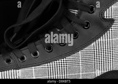New and modern black skates close up - Stockfoto