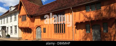 The Little Hall museum, Market square, Lavenham village, Suffolk County, England, Britain. - Stock Photo