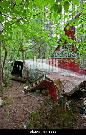 1957 DC-3 plane crash.Gustavus.Glacier Bay.Alaska.USA - Stock Photo