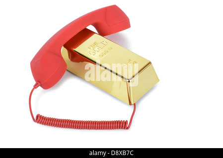 Concept of money talk or emergency funds - Stock Photo