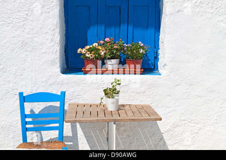 Traditional Greek house from the Cyclades islands. - Stock Photo