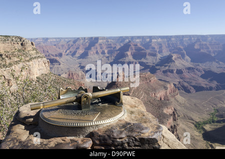 Scenic Locator on edge of the Grand Canyon. - Stock Photo