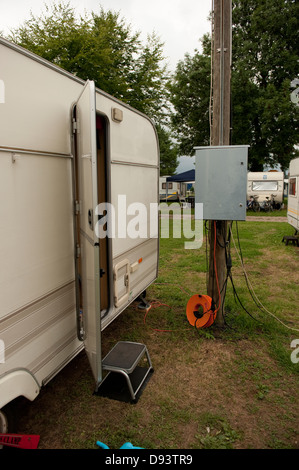 Caravan site electrical hook up germany europe stock photo 57248787 caravan site electrical hook up cologne germany stock photo sciox Choice Image