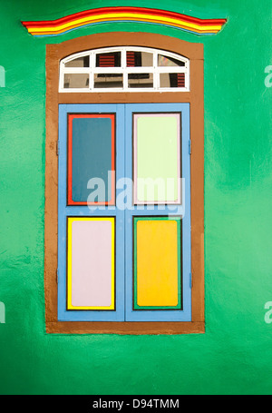 Old classical window where one can use for message and notice board - Stock Photo