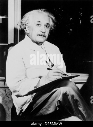 Albert Einstein (1879-1955) German-Swiss-American mathematician and physicist. - Stock Photo