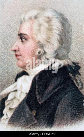 Wolfgang Amadeus Mozart (1756-1791), Austrian composer. Chromolithograph 1912. - Stock Photo
