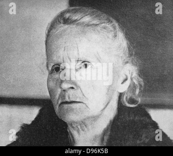 Marie Curie (1867-1934) Polish-born French physicist in 1931 - Stock Photo