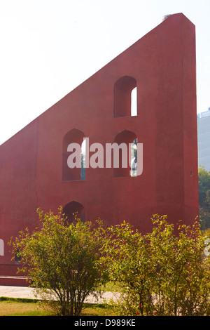 Giant sundial, Jantar Mantar, New Delhi, India - Stockfoto