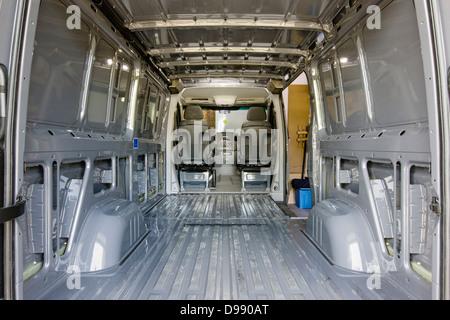 Interior View Of Mercedes Benz Sprinter Cargo Van 2500 Being Stock Photo 60239032 Alamy