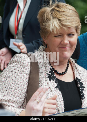 London, UK, 15th June, 2013. Clare Balding winks at fan attending Trooping the Colour 2013. Credit:  Prixnews/Alamy - Stock Photo