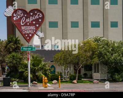 Cupid's Wedding Chapel, Downtown Las Vegas - Stock Photo