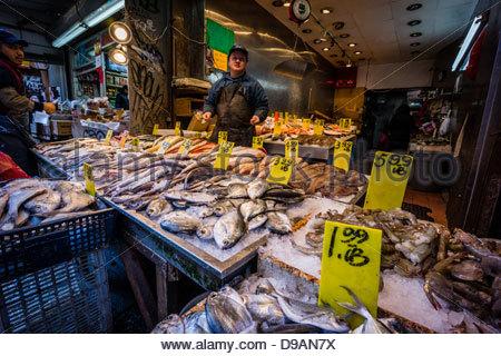 Chinatown fish market nyc stock photo royalty free for Fish market nyc