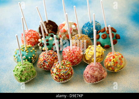 White chocolate cake pops. Recipe available.. - Stock Photo