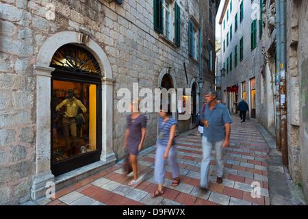 Old Town (Stari Grad), Kotor, Bay of Kotor, UNESCO World Heritage Site, Montenegro - Stock Photo