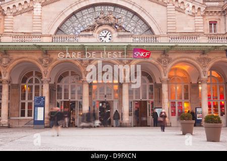 Gare de L'Est Railway station in Paris, France - Stock Photo