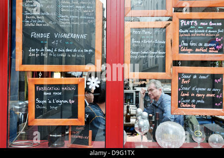 French cafe, Paris - Jan 2012 - Stock Photo