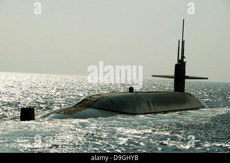 The ballistic missile submarine USS Maryland. - Stock Photo