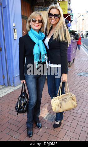 Former miss world rosanna davison irish rugby player donncha stock former miss world rosanna davison and her mother diane davison out and about in dublin dublin thecheapjerseys Images