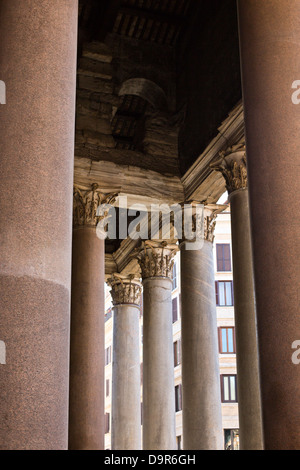 Low angle view of Bernini's Column, St. Peter's Square, Vatican City, Rome, Rome Province, Italy - Stock Photo