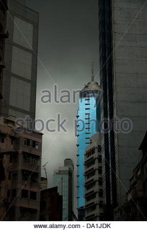 skyscraper in hong kong - Stock Photo