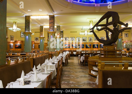Art Deco style La Coupole restaurant in Montparnasse Paris France - Stock Photo