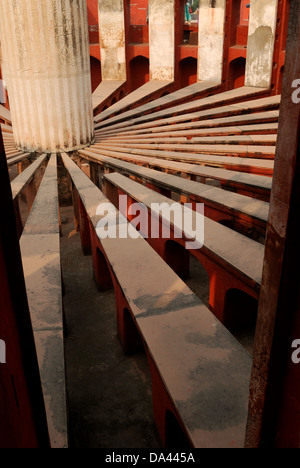 sun dial at jantar mantar,delhi,india . This is an ancient astronomical observatory  in india - Stock Photo