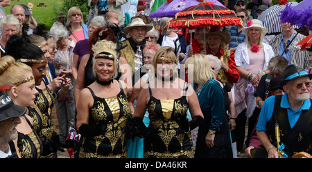 JAZZ FESTIVAL,  UPTON UPON SEVERN,  WORCESTERSHIRE,  ENGLAND.  UK - Stockfoto