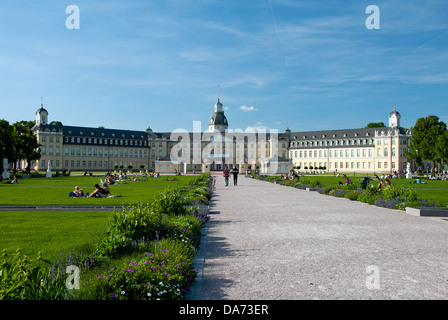 karlsruhe palace park germany baden w rttemberg stock photo royalty free image 105533494. Black Bedroom Furniture Sets. Home Design Ideas