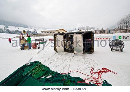 Balloons International Festival,Chateau d'Oex,Switzerland - Stock Photo