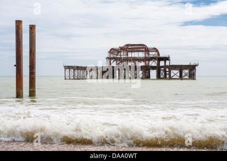Old West Pier. Brighton, UK - Stock Photo