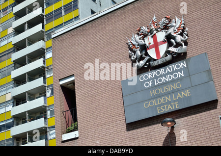 Corporation of London Golden Lane Estate, Barbican, London, UK - Stock Photo