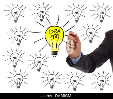 Bright idea - Stock Photo