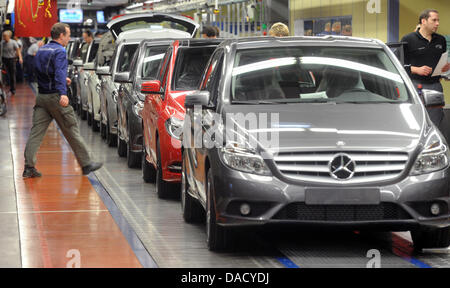 Mercedes Benz B Class Vehicles Are Manufactured At The