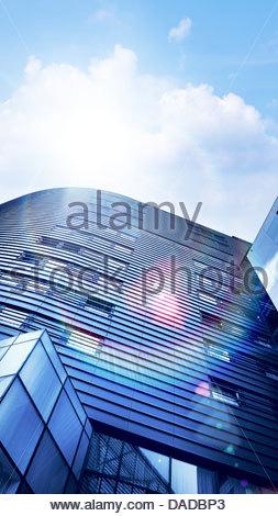 bright skyscrapers - Stock Photo