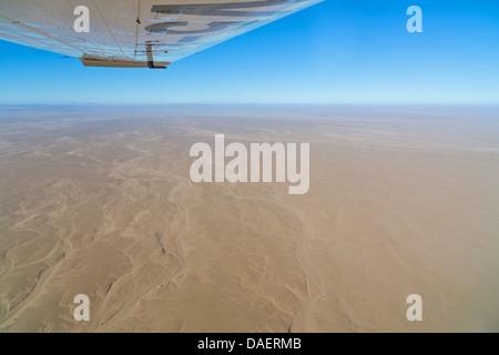 aerial photo of the Namib desert in Namibia, Namibia, Namib Naukluft National Park, Sossusvlei - Stock Photo