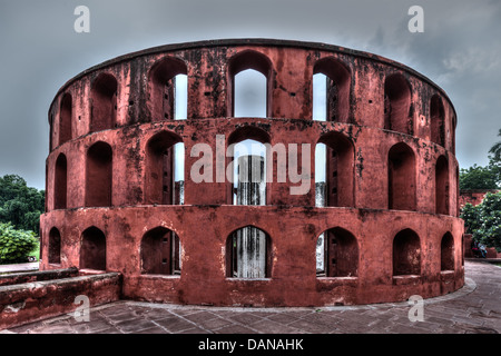 Jantar Mantar - ancient observatory with architectural astronomy instruments in Delhi, India - Stockfoto