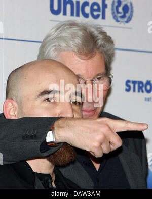US-American actor Richard Gere and Romanian cameraman Sergiu Matei are pictured at a press conference for today's - Stock Photo