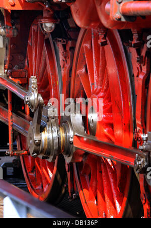 FILE - The picture shows a historic steam engine ?35? at a steam engine meeting in Chemnitz, Germany, 23 August - Stock Photo