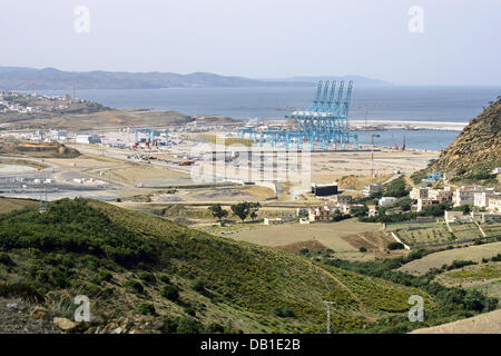 Morocco tangier strait of gibraltar container ship - Moroccan port on the strait of gibraltar ...