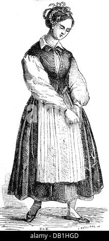 Schroeder-Devrient, Wilhelmine, 6.12.1804 - 26.1.1860, German singer, full length, as 'Senta' in 'The Flying Dutchman' - Stock Photo