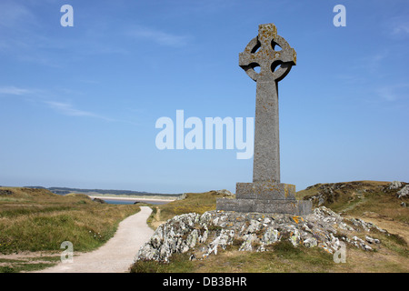 The War Memorial on Ynys Llanddwyn Island, Anglesey - Stock Photo