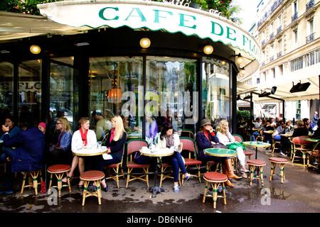 Cafe de flore paris france morning breakfast - Stock Photo