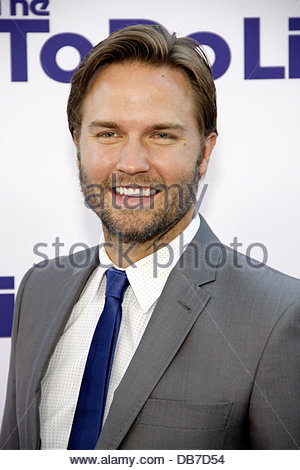 Los Angeles, California, USA. 23rd July 2013. Scott Porter at the Los Angeles premiere of 'The To Do List' held - Stock Photo