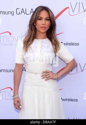 Brooklyn, NY. 26th July, 2013. NEW YORK, NY - JULY 26 ,2013- Jennifer Lopez pictured at Viva Movil By Jennifer Lopez - Stock Photo