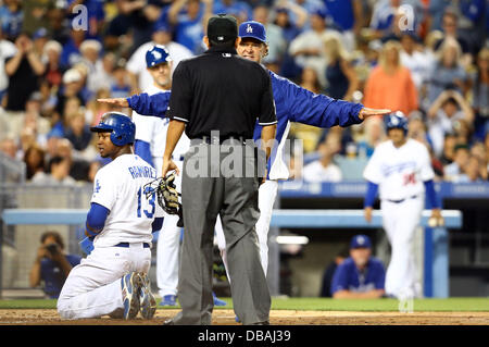 Los Angeles, California, USA. 26th July, 2013. July 26, 2013 Los Angeles, California: during the Major League Baseball - Stock Photo