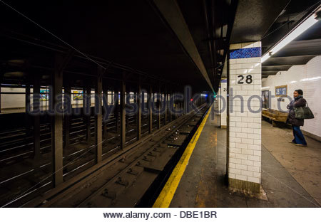 28th Street Subway Station Manhattan New York New York USA - Stock Photo