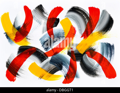 Abstract acrylic painting on paper. - Stock Photo