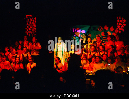 Teenagers On Stage Performing School Play Joseph And The Technicolour Dreamcoat - Stock Photo