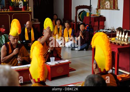 Sand Mandala Avalokiteshvara in Tibet-Hanover 2012. - Stock Photo